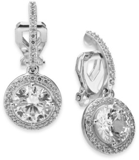 Eliot Danori Cubic Zirconia Clip-On Drop Earrings, Created for Macy's