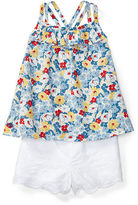 Ralph Lauren Girl Floral Cotton Top & Short Set