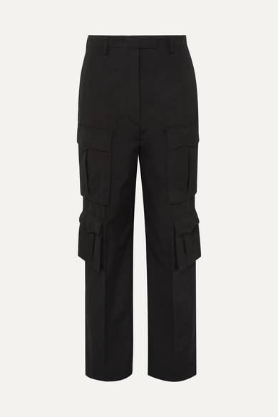Prada Cotton Gabardine Cargo Pants Black Shopstyle