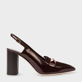 Paul Smith Women's Bordeaux Leather And Calf Hair 'Ava' Shoes