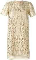 No.21 embroidered metallic dress
