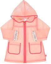 Billieblush Rhinestone-Embellished Transparent Raincoat