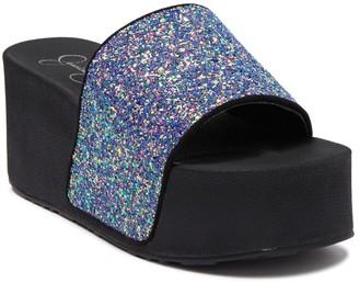 Jessica Simpson Faille 2 Glitter Platform Sandal