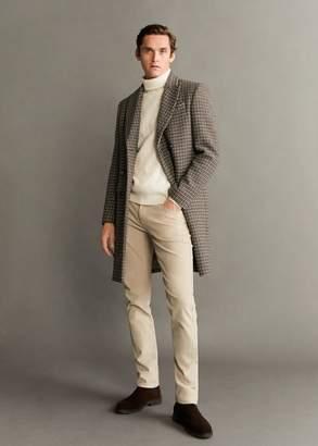 MANGO MAN - Tweed wool Tailored coat brown - XS - Men