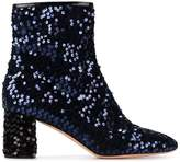 Rochas Blue sequin 65 ankle boots