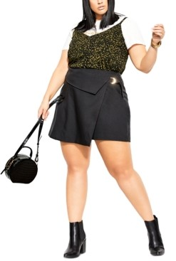City Chic Trendy Plus Size D-Ring Skort