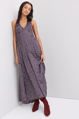 Anthropologie Melinda Jacquard Maxi Dress By in Blue Size XS
