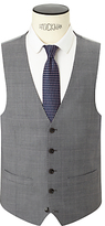 John Lewis Woven In Italy Super 120s Wool Check Tailored Waistcoat, Grey
