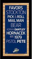 """Steiner Sports Utah Jazz 19"""" x 9.5"""" Vintage Subway Sign"""