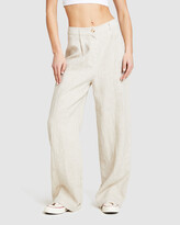 Thumbnail for your product : Subtitled Women's Pants - Linen Slouch Trousers - Size One Size, L at The Iconic