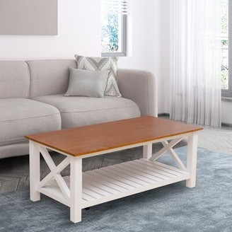 Longshore Tides Drakeford Solid Wood Coffee Table With Storage Shopstyle