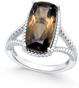 Macy's Smoky Quartz Rope-Style Ring (5 ct. t.w.) in Sterling Silver