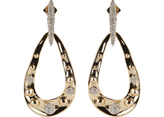Alexis Bittar Pave Studded Link Post Earrings
