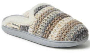 Dearfoams Women's Multi-color Chunky Knit Scuff Slippers, Online Only