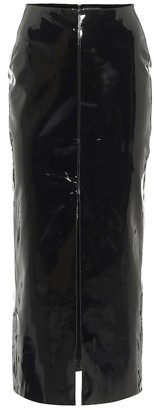 David Koma Patent leather midi skirt
