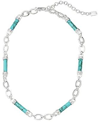 Lauren Ralph Lauren 16 Barrel Frontal Necklace (Turquoise) Necklace