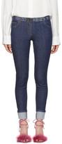 Kenzo Blue Super Stretch Logo Jeans