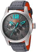 HUGO BOSS BOSS Orange Men's Quartz Stainless Steel and Resin Watch, Color:Grey (Model: 1513379)