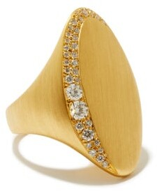 Jade Trau - Adele Diamond & 18kt Gold Signet Ring - Gold