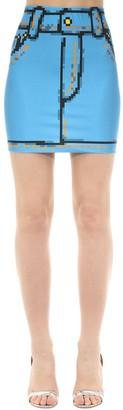 Moschino Trompe L'oeil Denim Effect Lycra Skirt