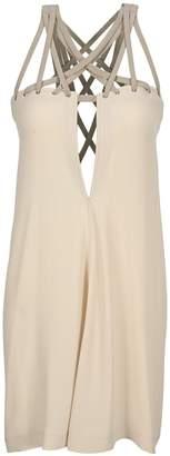 Rick Owens Braided Neckline Dress