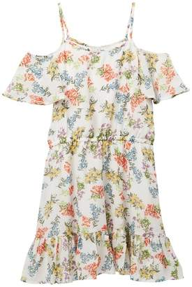 Ella Moss Floral Print Chiffon Dress (Big Girls)