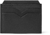 Valextra Pebble-grain Leather Cardholder - Black