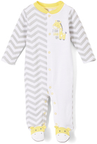 Baby Starters White & Yellow 'I Can Stand Up' Footie - Infant