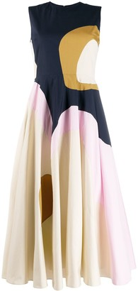 Roksanda Catia abstract panel dress