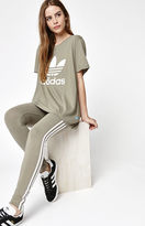 adidas Olive 3-Stripes Leggings
