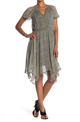 Velvet by Graham & Spencer Belen Printed Crepe Dress
