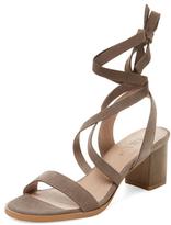 Block Heel Lace-Up Sandal