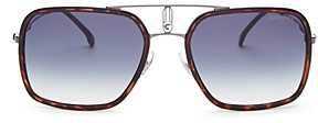 Carrera Men's Brow Bar Square Sunglasses, 59mm
