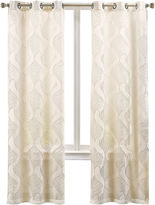 Asstd National Brand Serene 2-Pack Embroidered Grommet-Top Curtain Panels