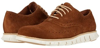 Cole Haan Zerogrand Wing Tip Oxford (Bourbon Suede/Ivory) Men's Shoes