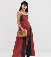 Brave Soul Petite gina maxi dress in mix print
