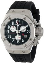 Swiss Legend Women's 10535-01 Trimix Diver Chronograph Black Dial Black Silicone Watch