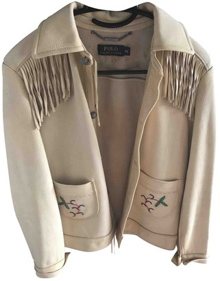 Polo Ralph Lauren Beige Suede Jacket for Women
