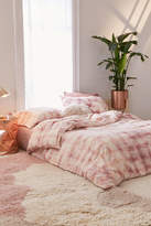 Urban Outfitters Overdyed Flannel Duvet Cover