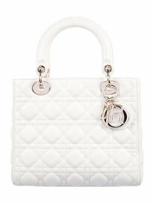 Christian Dior 2019 Cannage Medium Lady Bag White