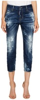 DSQUARED2 Baker Wash Cool Girl Cropped Jeans in Blue Women's Jeans