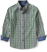 Nautica Big Boys 8-20 Plaid Woven Long-Sleeve Shirt