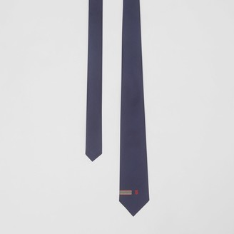 Burberry Classic Cut Icon Stripe and Monogram Motif Silk Tie