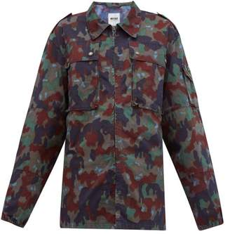 Myar - Camouflage Print Cotton Blend Shirt Jacket - Womens - Camouflage