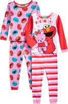 Sesame Street 4-Pc. Dream Big Cotton Pajama Set, Toddler Girls (2T-5T)