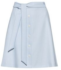 HUGO A-line miniskirt in micro-patterned stretch fabric