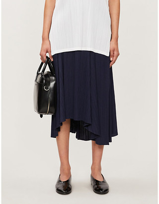 Pleats Please Issey Miyake High-rise pleated plisse midi skirt