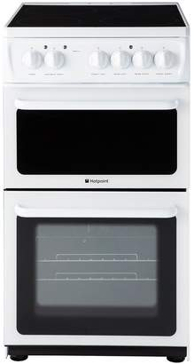 Hotpoint HD5V92KCW 50cm Twin Cavity Electric Cooker