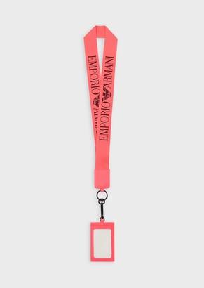 Emporio Armani Badge Holder With Logoed Lanyard
