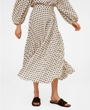 MANGO Women's Polka-Dot Midi Skirt